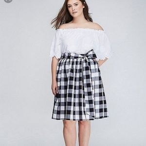 Gingham Skirt with Bow